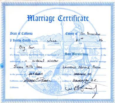 california marriage records
